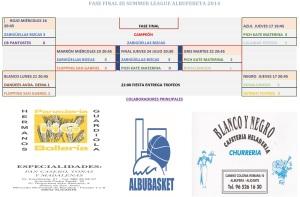 CUADRO FASE FINAL III SL 2014 ALBUFERETA